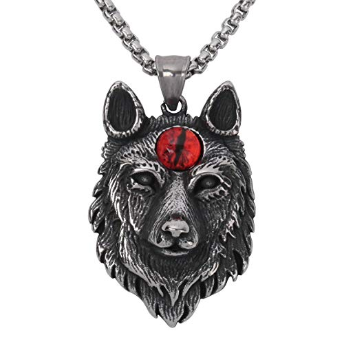- Szxc Jewelry Wolf Head Custom Couple Chain Pendant Necklace 20