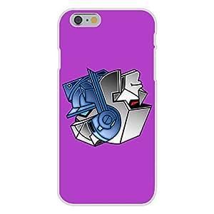 "Apple iPhone 6 Custom Case White Plastic Snap On - ""Robots Good Bad Yin Yang"