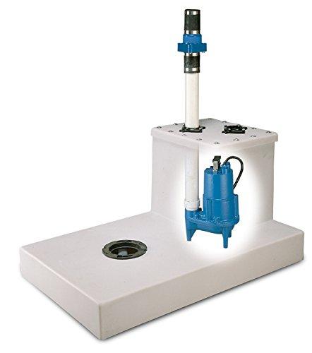 (Barnes 102147 Model BGBSEV412 Basement Genie Sewage Pump Package with SEV412VF Pump, 1/2 hp, 115V, 1 Phase, 2