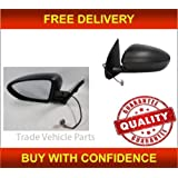 Trade Vehicle Parts DS4004 Wing Door Mirror Heated Electric Black Passenger Side