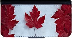 Canada Leaf Flag iPhone 5 Flip Case, iPhone 5s Flip Case, Pocket Cover, Wallet Case, Book Style Case, Bi-Fold Cover, Flap Case, by Sublifascination 61