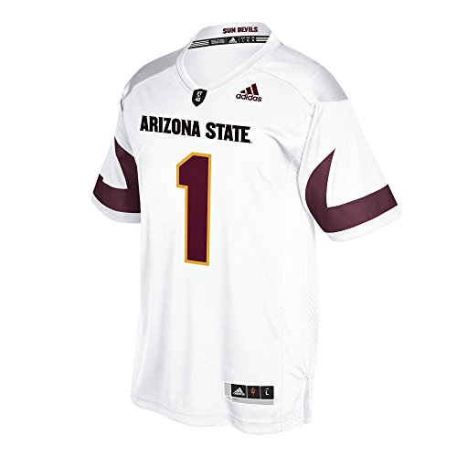 NCAA Arizona State Sun Devils Adult Men Premier Football Jersey, Small, White by adidas