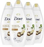 Dove Body Wash Shea Butter & Warm Vanilla moisturizing body wash to hydrate and maintain healthy skin 354