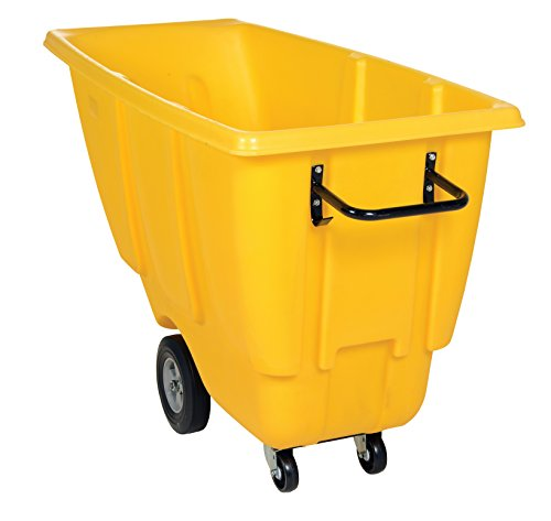 Vestil TDT-50-MD-YELLOW Medium Duty Tilt Truck, 1/2 cu. yd., Yellow