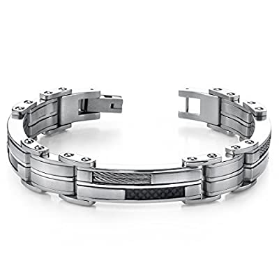 Sophisticated & Stylish Heavy Duty Stainless Steel Mens Bracelet