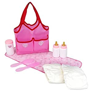 you me doll accessories tote bag hot pink toys games. Black Bedroom Furniture Sets. Home Design Ideas