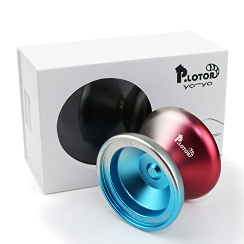 - Unresponsive YOYO, P.lotor Newest Design V1 Polished Alloy Aluminum Professional Yo-yo Ball with Gift Package (Red & Blue)
