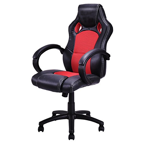 Officelax Racing Chair Gaming Chair High Back Swivel Office Chair with Bucket Seat (red)