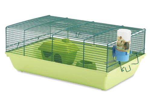 Savic Stuart Mice/Dwarf Hamster Cage, 46.5 x 29.5 x 19 cm, Linde Green