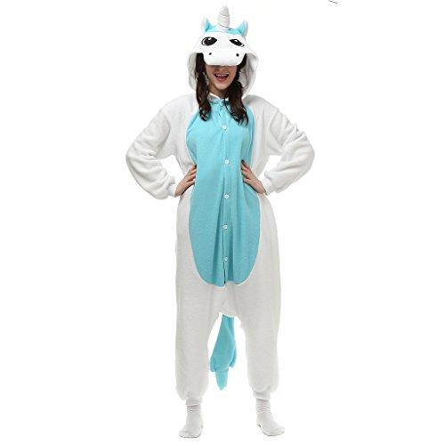 Bettertime Unisex Warm Fleece Animal Sleepsuit Adult Pajamas Cosplay Onesies ()
