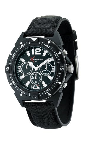 Sector Men's R3251197007 Expander 90 Black Analog Watch