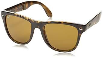 Ray-Ban Folding Polarized Wayfarer Sunglasses, Light Havana, 50 mm