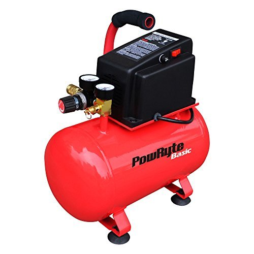 PowRyte 3 Gallon Oil-Free Hotdog Portable Air Compressor -100 PSI (Certified Refurbished)