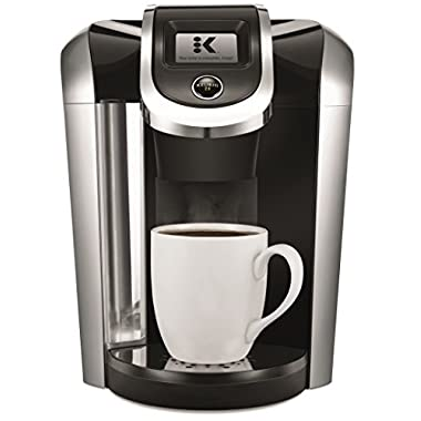 Keurig K475 Single Serve Programmable K- Cup Pod Coffee Maker with 12 oz brew size and temperature control, Black