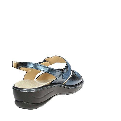 CS 002 IO631P Cinzia Soft CS Femme Cinzia 002 Sandale Soft IO631P Bleu Txqwn6BC5