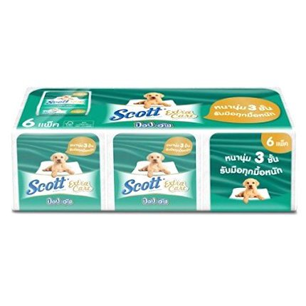 Moist Wipes Pop Up Refill (SCOTT POP UP TISSUES EXTRA CARE ,(Pack Of 6)-3 ply thick and Soft ,50% better absorb)