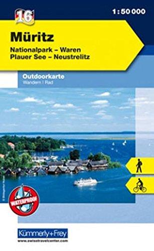 Outdoorkarte 16 Müritz 1 : 50.000: Wandern, Rad. Waren, Plauer See, Neustrelitz (Kümmerly+Frey Outdoorkarten Deutschland)