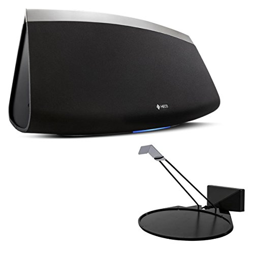 Denon HEOS 7 Wireless Multi-Room Sound System - Series 2 (Black) with SoundXtra Wall Mount for Denon HEOS 3 (Black)