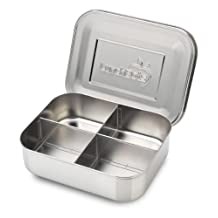 LunchBots Quad Stainless 4-Compartment Container with Stainless Lid