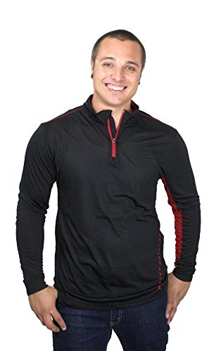 Harley-Davidson Mens Shifting Punishment Mock Neck Black Long Sleeve 1/4 Zip (X-Large) (Harley Barnett Davidson)