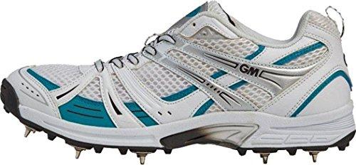 Gunn & Moore sei 6Spikes cricket scarpe sportive calzature scarponi con lacci,