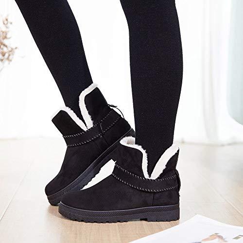 Cheville Chaussures Double Chaud Noir En Daim Bottes Chaude Boucle Travail Lazzboy Femmes Scolaire Neige nUqZx8w66E