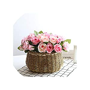 Idyllic Flower Basket Suit Simulation Artificial Flowers Set Dried Flowers Living Room Holiday Decorations Table Decoration Art,H 54