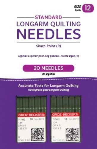 Handi Quilter Longarm Quilting Needles - Standard Sharp Point (R) Size 12 (Pack of 20)