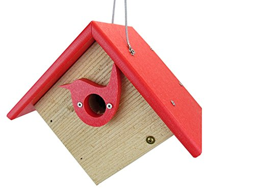 Nature Products USA Classic Red Cedar & Recycled Poly Lumber Wren Birdhouse