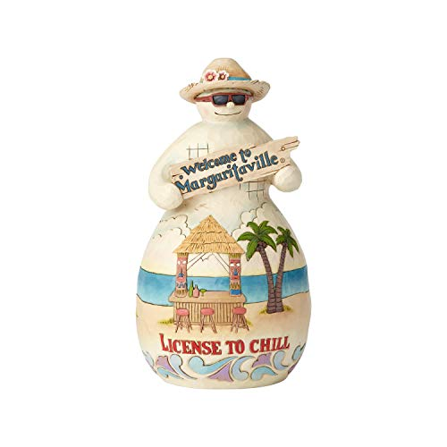 - Enesco Margaritaville by Jim Shore Tiki Snowman License ot Chill Figurine, 8.2