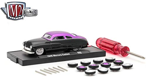 M2 Machines 1949 Mercury Custom (Gloss Black Body w/Satin Purple Top) - Auto-Wheels Release 5 2017 Castline Premium Edition 1:64 Scale Die-Cast Vehicle Kit (R05 - Edition Premium Kit