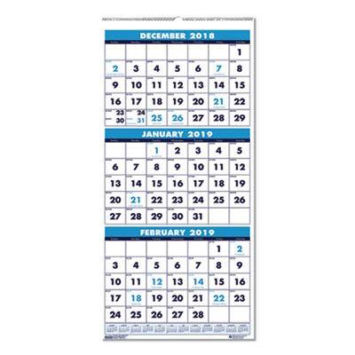 (House of Doolittle 3640 Three-Month Format Wall Calendar, 12-1/4 x 26, 2015-2016)