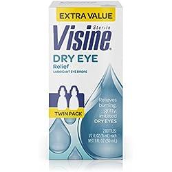 Visine Tears Dry Eye Relief Lubricant Eye Drops, .5 Fl. Oz (Pack Of 2)
