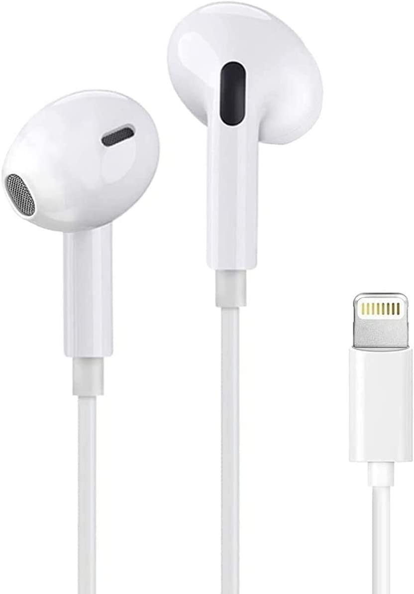 iphone Earbuds with Lightning Connector(Built-in Microphone & Volume Control) In-Ear Stereo Headphone Headset Compatible with iPhone 12/SE/11/X/8 7/8 7 Plus/ipad - All iOS System[Apple MFi Certified]