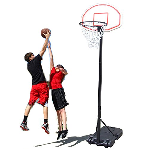 Alightup Basketball Stand Portable Kids Junior Height-Adjustable Basketball Hoop Stand from 5.4 Foot to 6.7 Foot Backboard System All Weather Indoor Outdoor