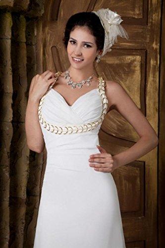 sexy Schlanke Elfenbein mit BRIDE GEORGE Abendkleid Edelsteinen Hochzeitskleider verziert Brautkleider qHEvgT