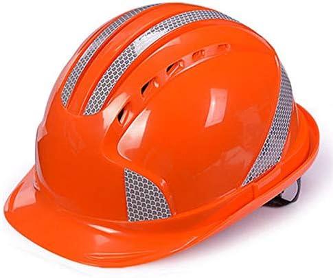 Rui Peng 安全性 ハード帽子 - 「保冷」換気ヘルメット、完全に調整可能、キャップスタイルABS反射ヘルメット電力建設プロジェクトのリーダーシップヘルメット ヘルメットヘッド保護機器、 (Color : Orange)