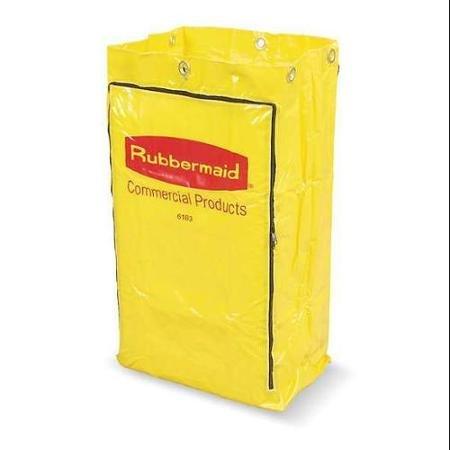 RUBBERMAID FG618300YEL Replacement Bag, Yellow, Vinyl