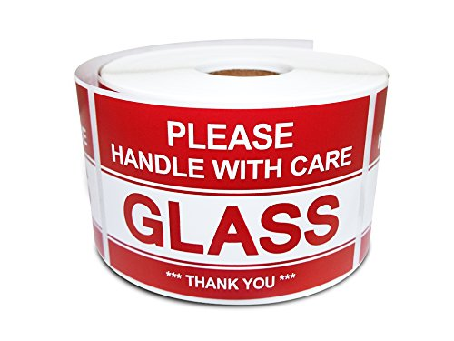 Glass Please Warning Shipping Stickers product image