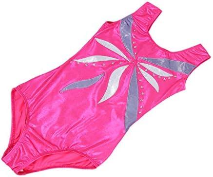 バレエ ヨガ 体操 子供 トレーニング ボディスーツ レオタード フィットネス 吸汗 全3サイズ