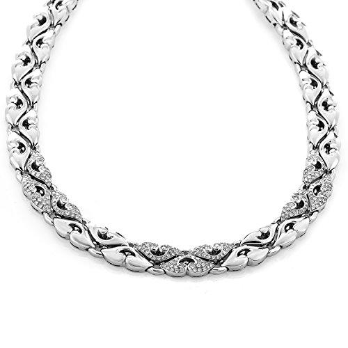 Bvlgari Nuvole 18K White Gold Diamond Pave Choker Necklace