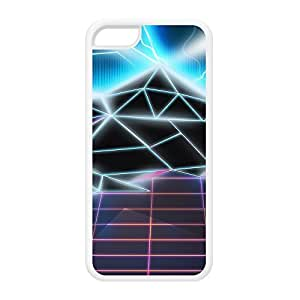 80s video game White Silicon Rubber Case for iPhone 5C by Nick Greenaway + FREE Crystal Clear Screen Protector