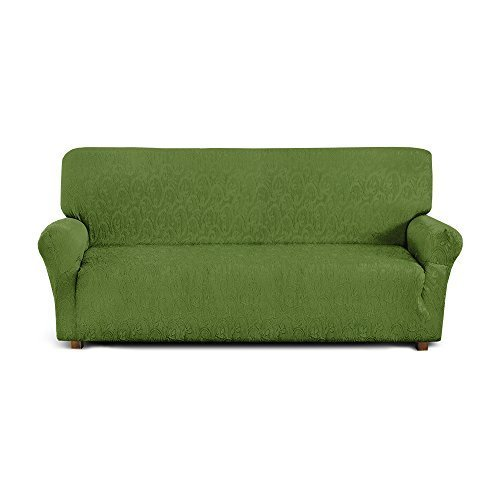 Corredocasa Funda para sofÁ 049IT, 3 cuerpos, poliéster y algodón, Verde