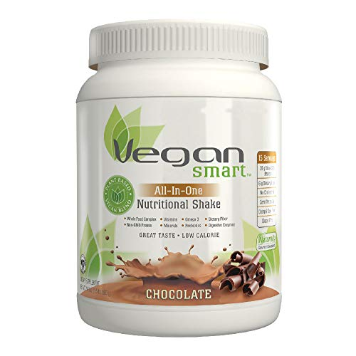 Vegansmart Plant Based Vegan Protein Powder by Naturade, All-In-One Nutritional Shake - Chocolate 24.34 oz