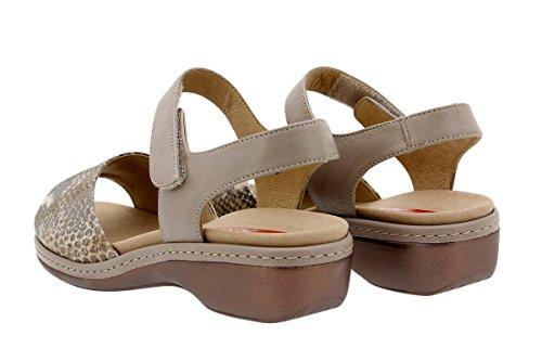 Calzado mujer confort de piel Piesanto 1807 Sandalia Plantilla Extraíble cómodo ancho Cuero