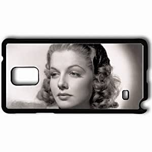 Personalized Samsung Note 4 Cell phone Case/Cover Skin Ann Sheridan Black