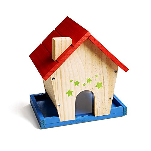 Kits Birdhouse Kids - Stanley Jr Bird Feeder Kits For Kids And Adults - DIY Bird Feeder Kit - Paint-A-Birdhouse Kit - Wood Bird Feeders - Paint & Brushes Included