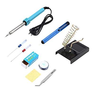 EStasyXworld 220 V 60 W Hierro de Soldadura eléctrica 9 en 1 Herramienta de Soldadura DIY Máquinas de Soldadura Profesionales Herramienta de lápiz de Calor ...