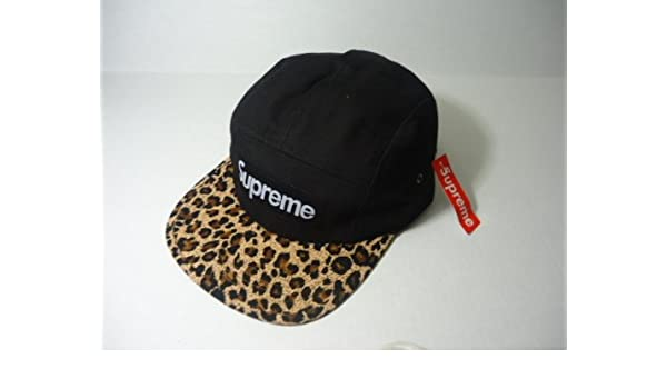 ecfde678dc3 Amazon.com   Supreme Black Cheetah Safari Camp Cap 5 Panel Hat Tyler The  Creator OFWGKTA   Baseball Caps   Everything Else