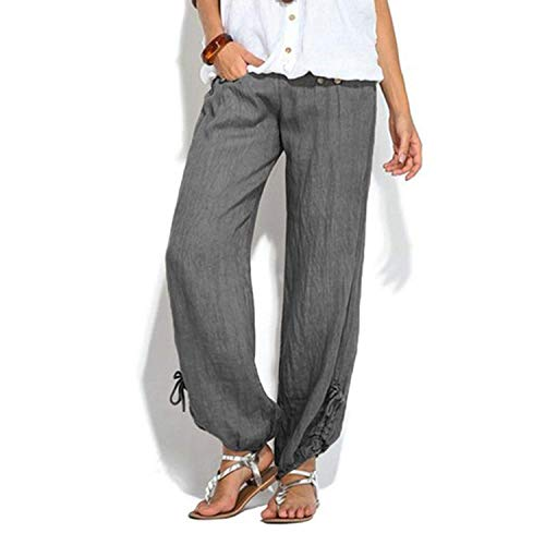 Pantaloni Grigio primavera Yoga in da con casual elastica e autunno donna vita Pantaloni sportivi pantaloni pantaloni Aladdin raaWqOt